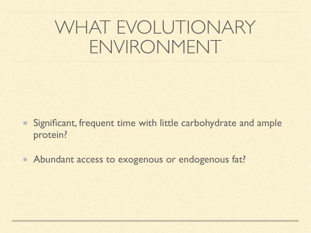 evolutionary environment