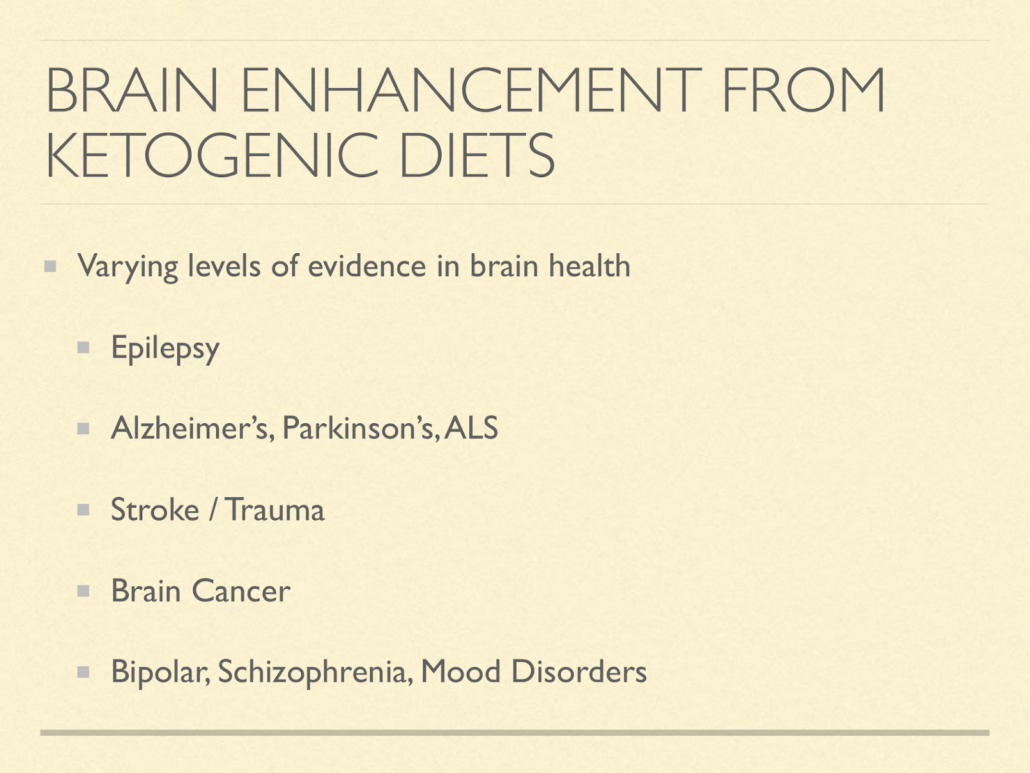 ketogenic diets and brains